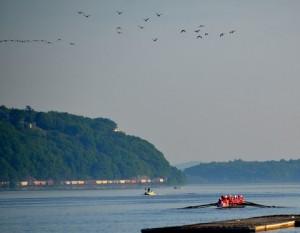 Rowing Hudson River By M Salamone