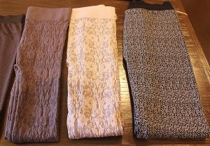 Sweater Leggings to keep you warm this winter. Several brands available in black and prints.
