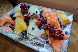 Thayer Hotel Sunday Brunch Fruit platter