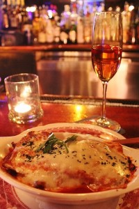 Chicken Parm Diinner and Champagne Cocktails at Fosters's in Rhinebeck