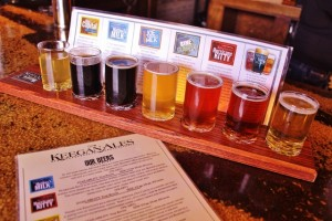 Keegan Ales Beer Flight