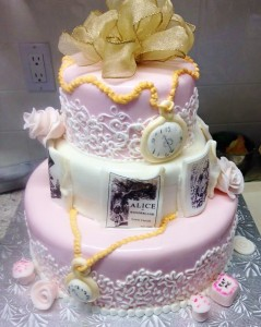 Kwirky Kakes Wonderland Bridal Shower cake