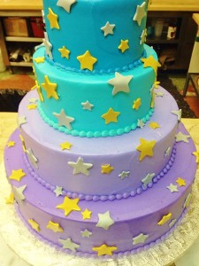 Qwirky KAkes 11 stars cake
