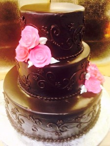 Qwirky KAkes 8 Chocolate Wedding cake