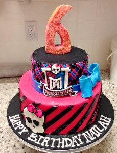 Qwirky Kakes 4 Monster High Cake