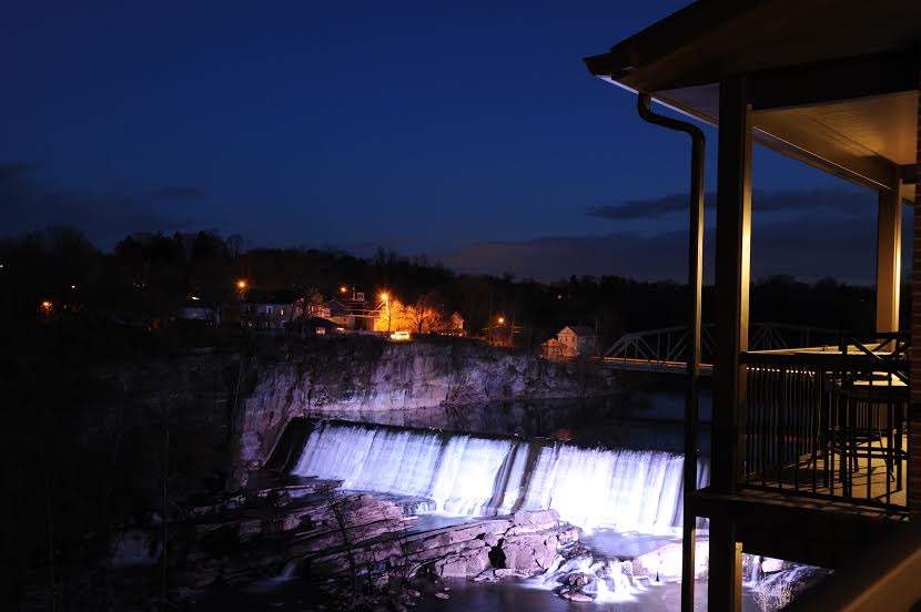 Waterfalls at Night at Diamond Mills By Kevin Ferguson Photography